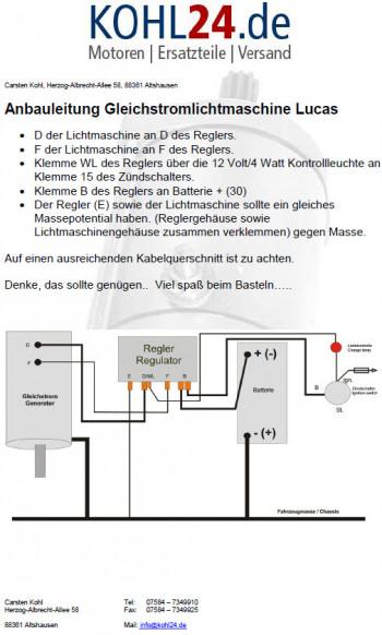 Lichtmaschine Gleichstrom Allis Chalmers David Brown Fordson ...
