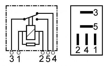 Relais 12 Volt 20 Ampere / 10 Ampere Bosch 0332201107 0332207100 0332207101 0332207102 0332207107 0332207300 0332207302 0332207307 0332207310 0332207321 0986332004 Nagares MRIS1220