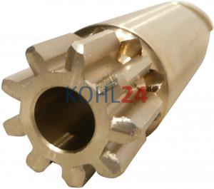 Ritzel für Anlasser der BNG...-Serie BPD...-Serie 000140....-Serie 0001501...-Serie Bosch 2006381010 2006381410 9 Zähne 3 Splines Bronze