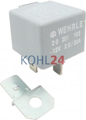 Relais 12 Volt 20 Ampere / 30 Ampere Wehrle 20201103