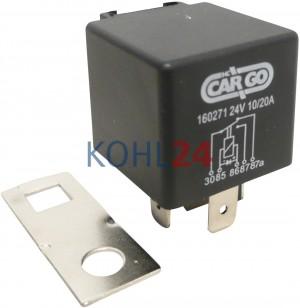 Relais 24 Volt 10 Ampere / 20 Ampere Bosch 0332204212 0986AH0605 Wehrle 20401103
