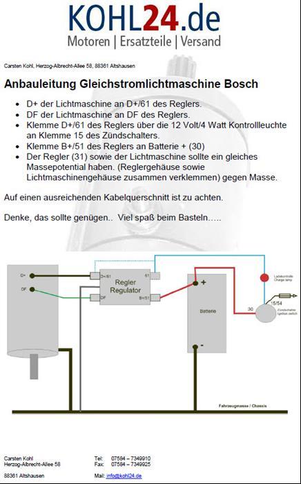 Lichtmaschine Gleichstrom Eicher Deutz Fendt Bosch 0101209002 ...