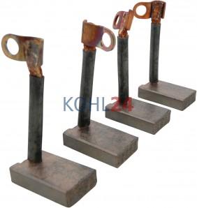 Satz = 4 Stück | Kohlensatz für Dynastarter der GSB...-Serie Hitachi 12 Volt