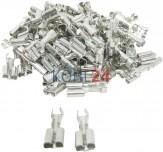 Flachsteckhülse 6.3 mm Leiterdimension 1-2.5 verzinnt (100 Stück)